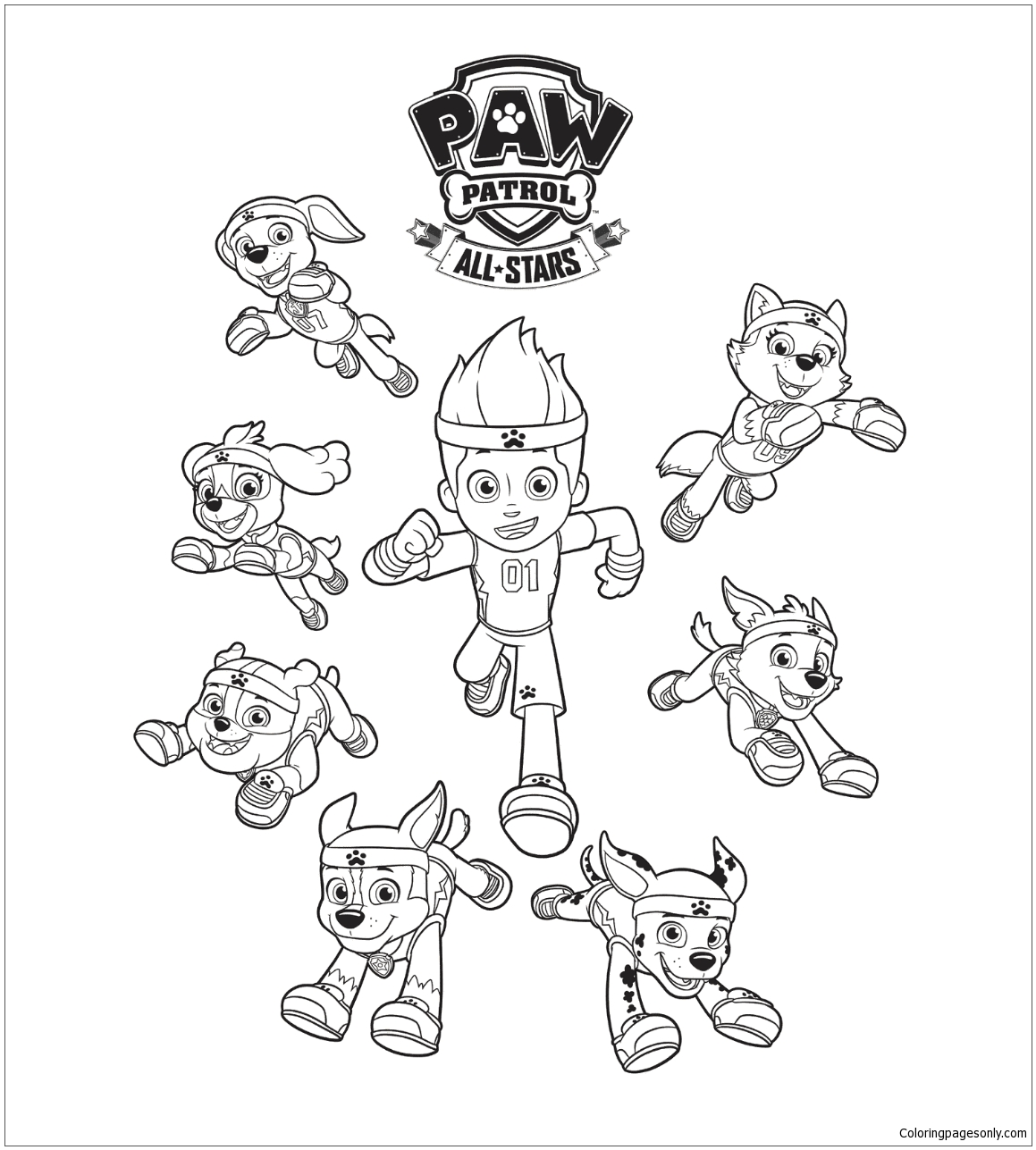 Paw Patrol 16 Coloring Page