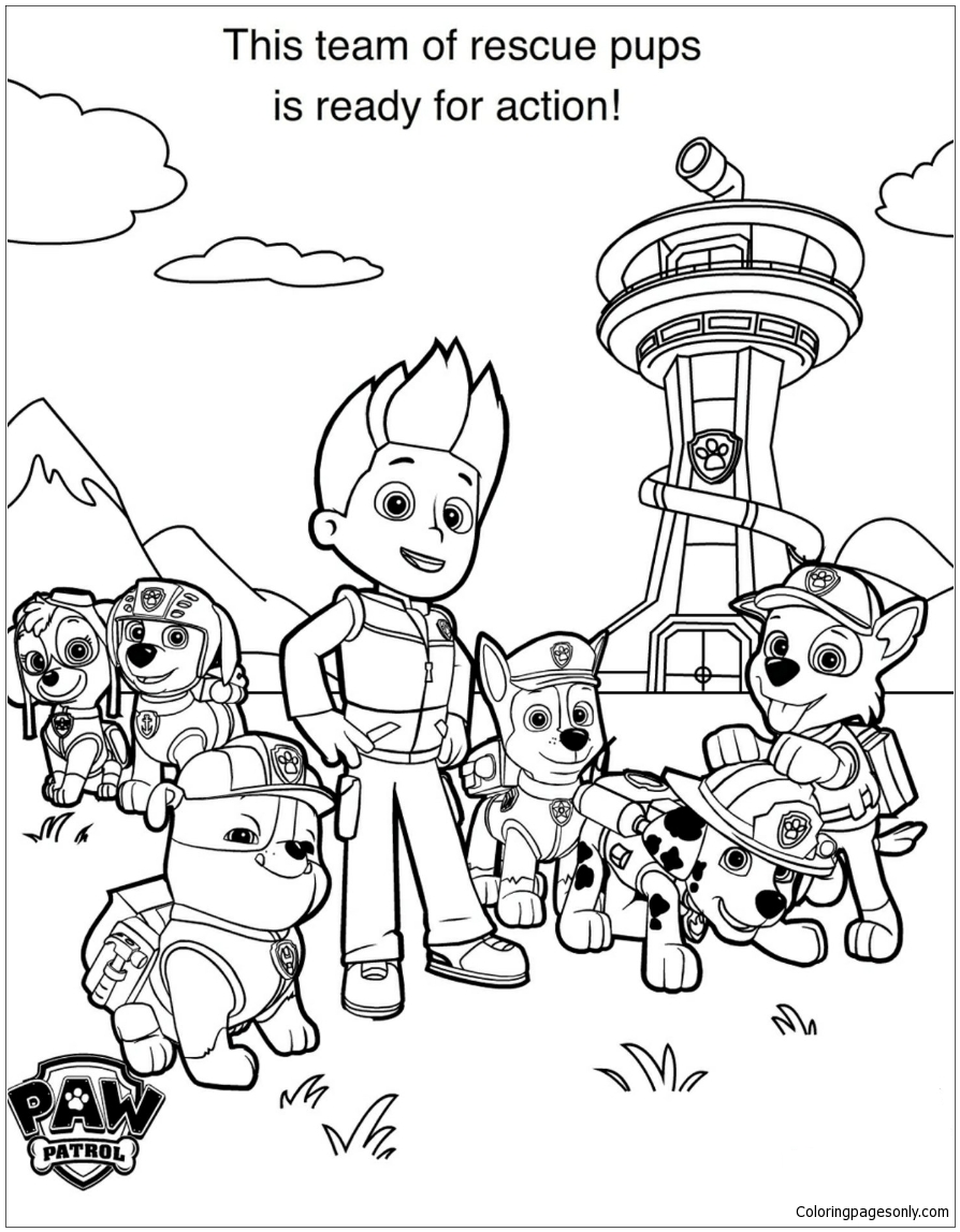 Paw Patrol 17 Coloring Pages - Cartoons Coloring Pages ...