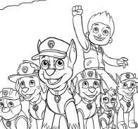 Paw Patrol 18 Coloring Page
