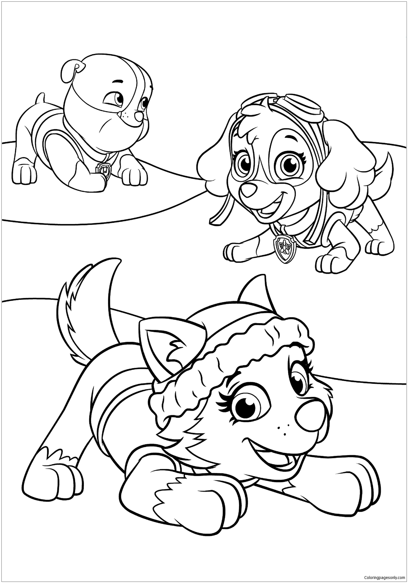 Paw Patrol 20 Coloring Page - Free Coloring Pages Online