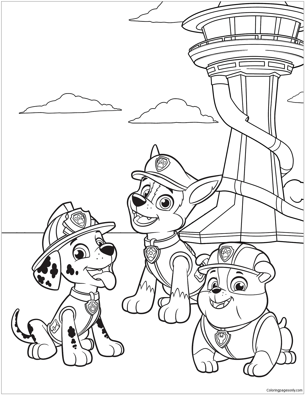Paw Patrol 38 Coloring Page - Free Coloring Pages Online