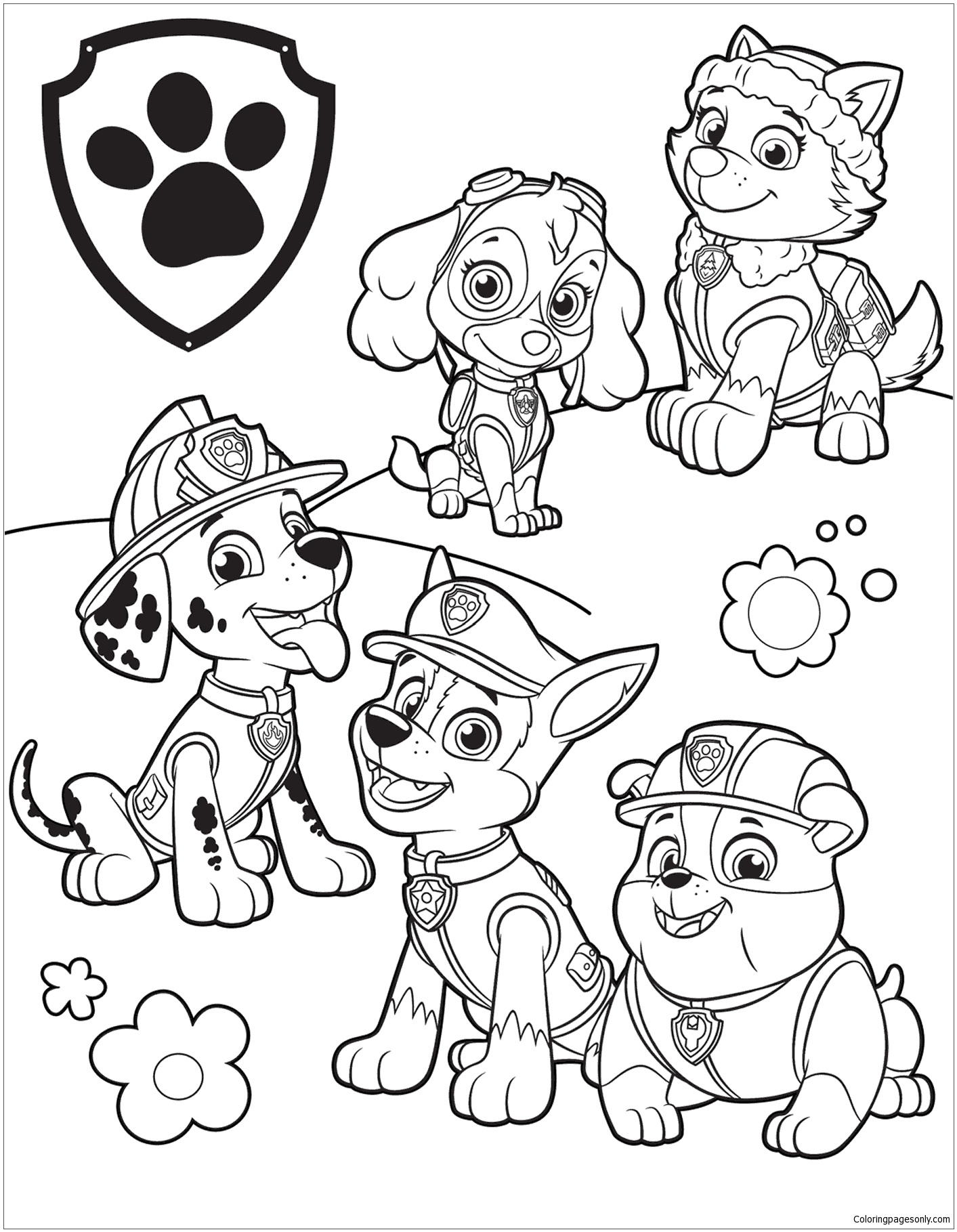 Paw Patrol Ausmalbilder Skye : Paw Patrol 39 Coloring Page Free Coloring Pages Online