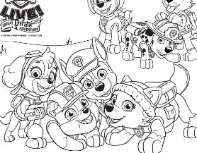 Paw Patrol 40 Coloring Page