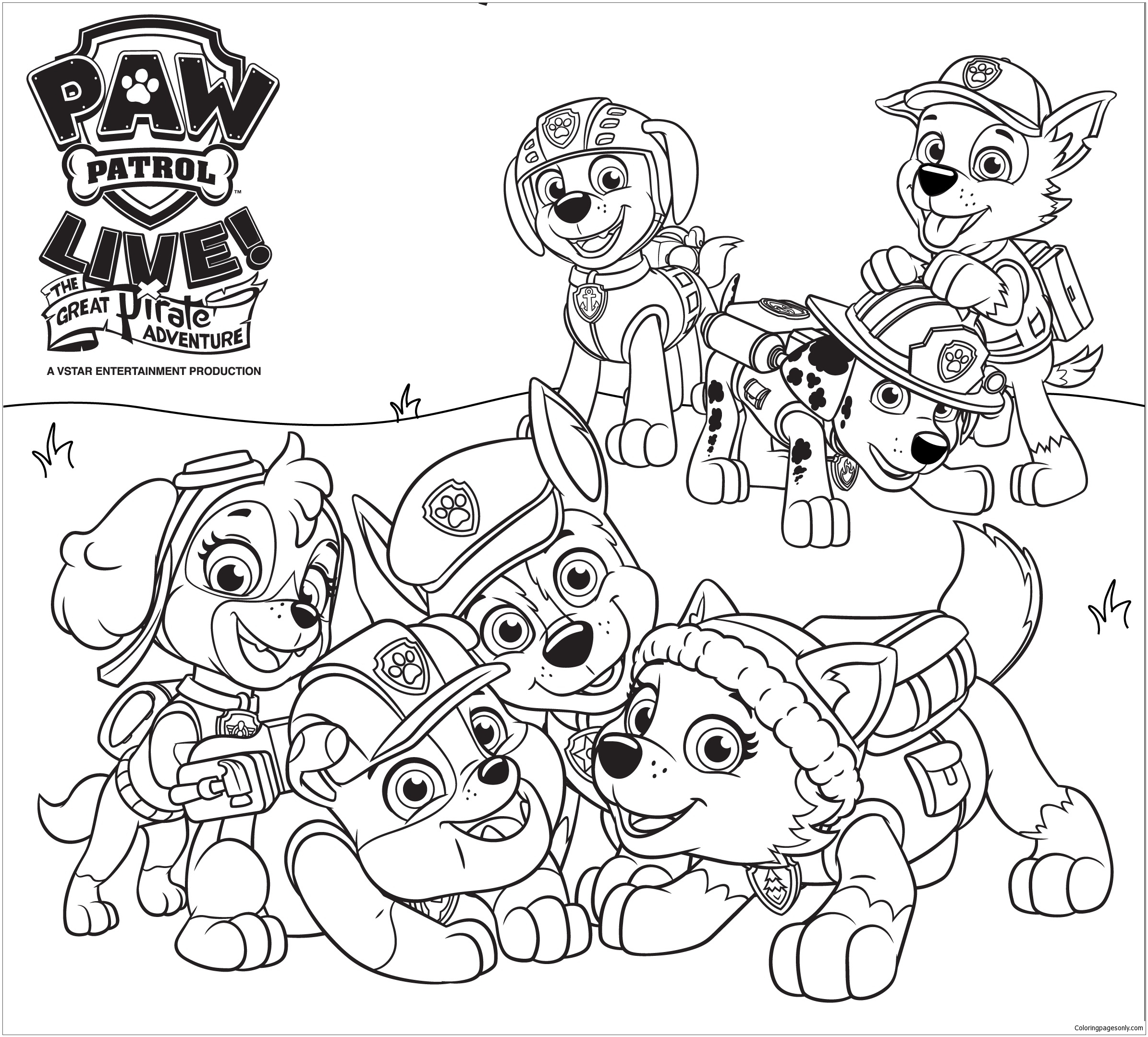 paw patrol 45 coloring page free coloring pages
