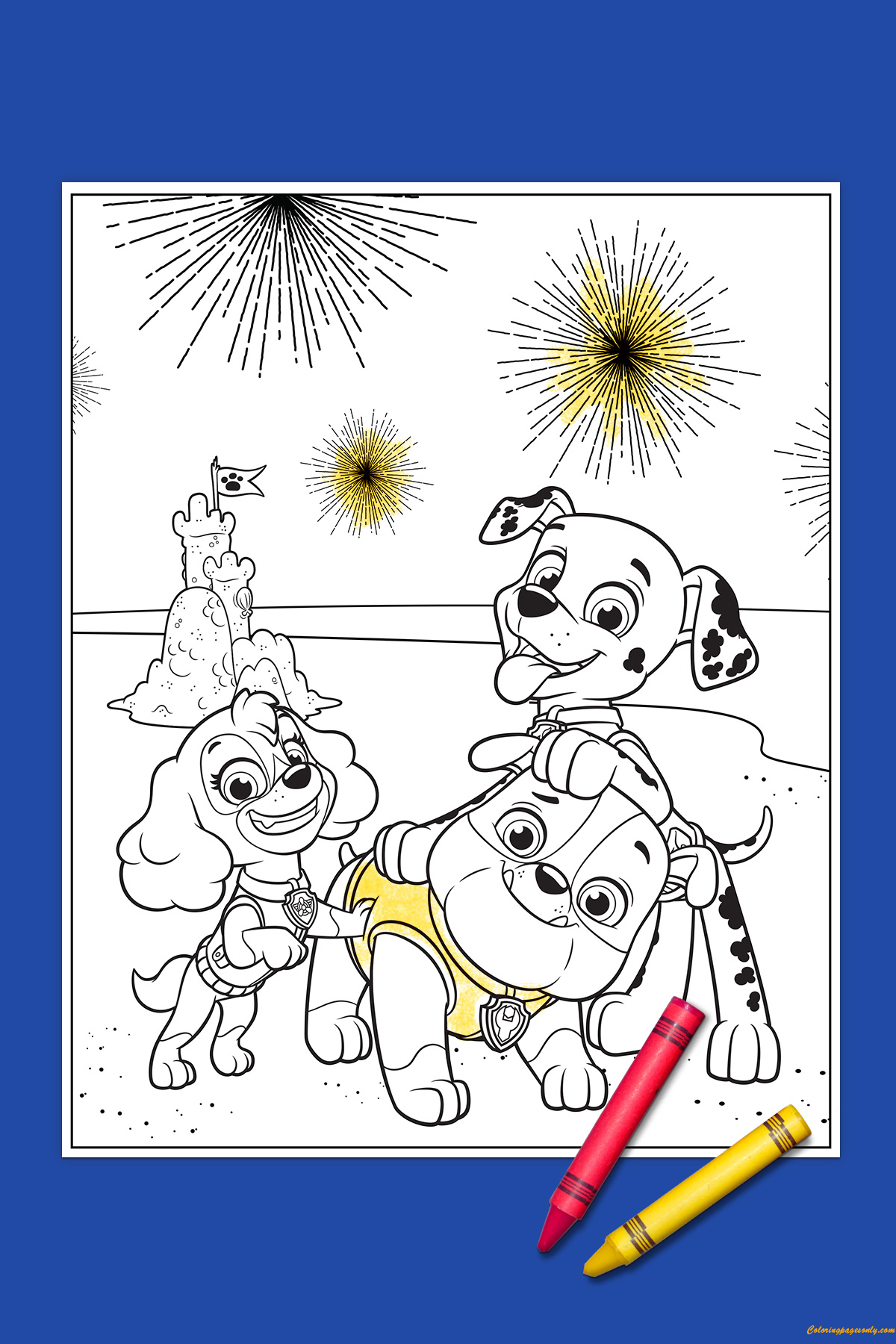 Paw Patrol 4th of July Coloring