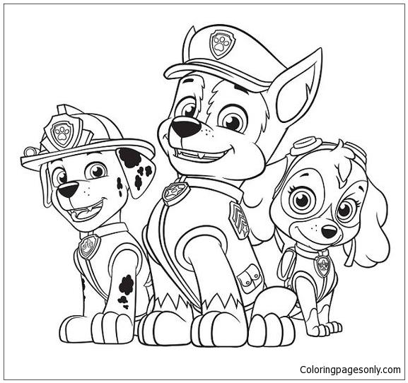 Paw Patrol 5 Coloring Page