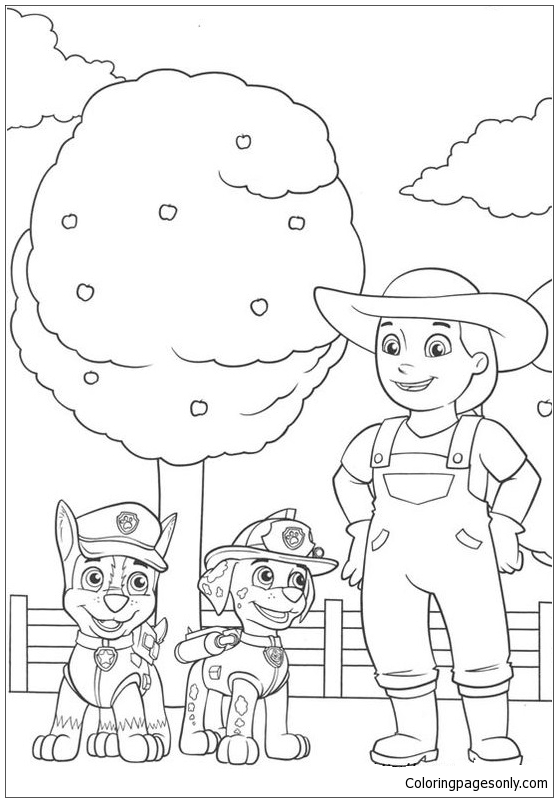Paw Patrol 7 Coloring Page