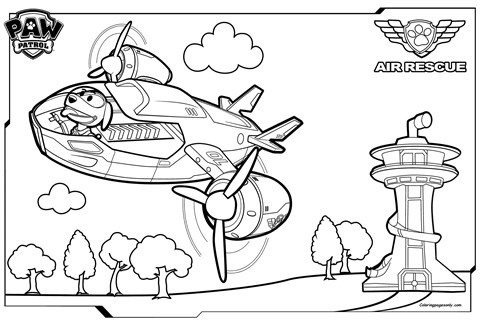 Paw Patrol Air Patroller Coloring Page