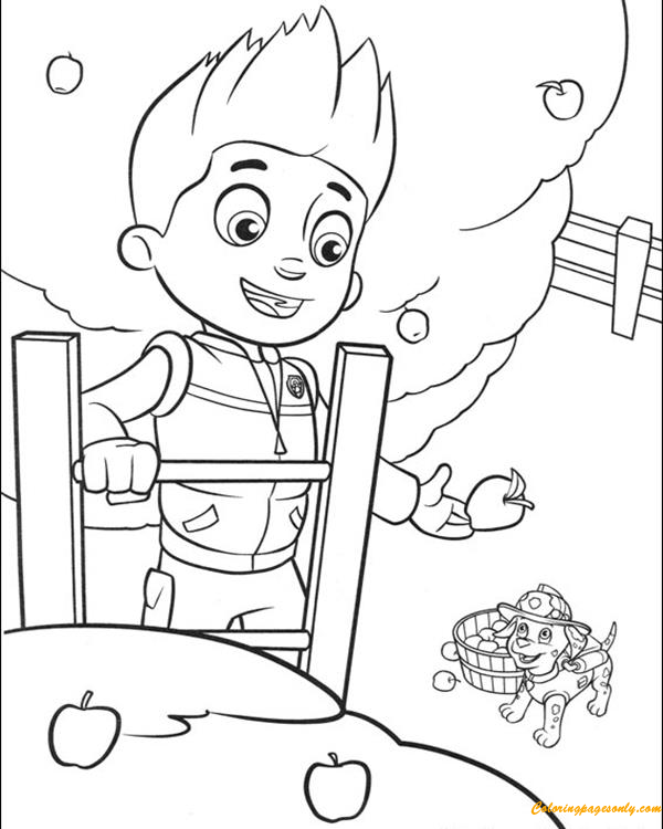 Paw Patrol Cat Rocky Coloring Page