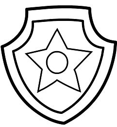 Paw Patrol Chase Badge
