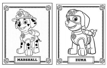 paw patrol dogs rocky marshall zuma rubble skye chase - Marshall Paw Patrol Coloring Page