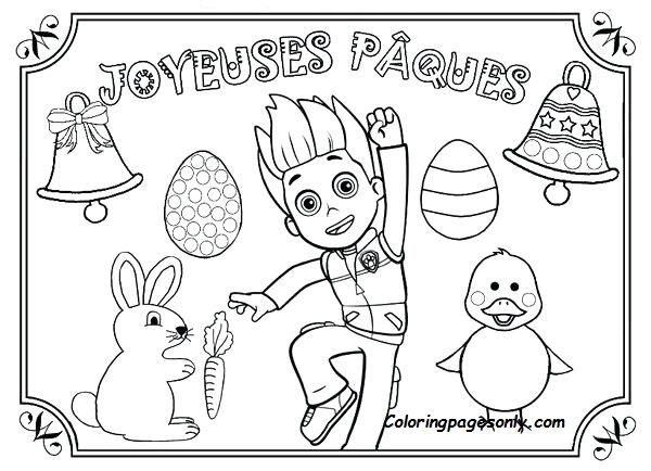 - Paw Patrol Easter Coloring Page Coloring Page - Free Coloring Pages Online