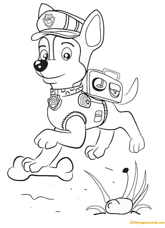 Paw Patrol Happy Coloring Page