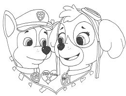 Paw Patrol In Valentines Day 1 Coloring Page