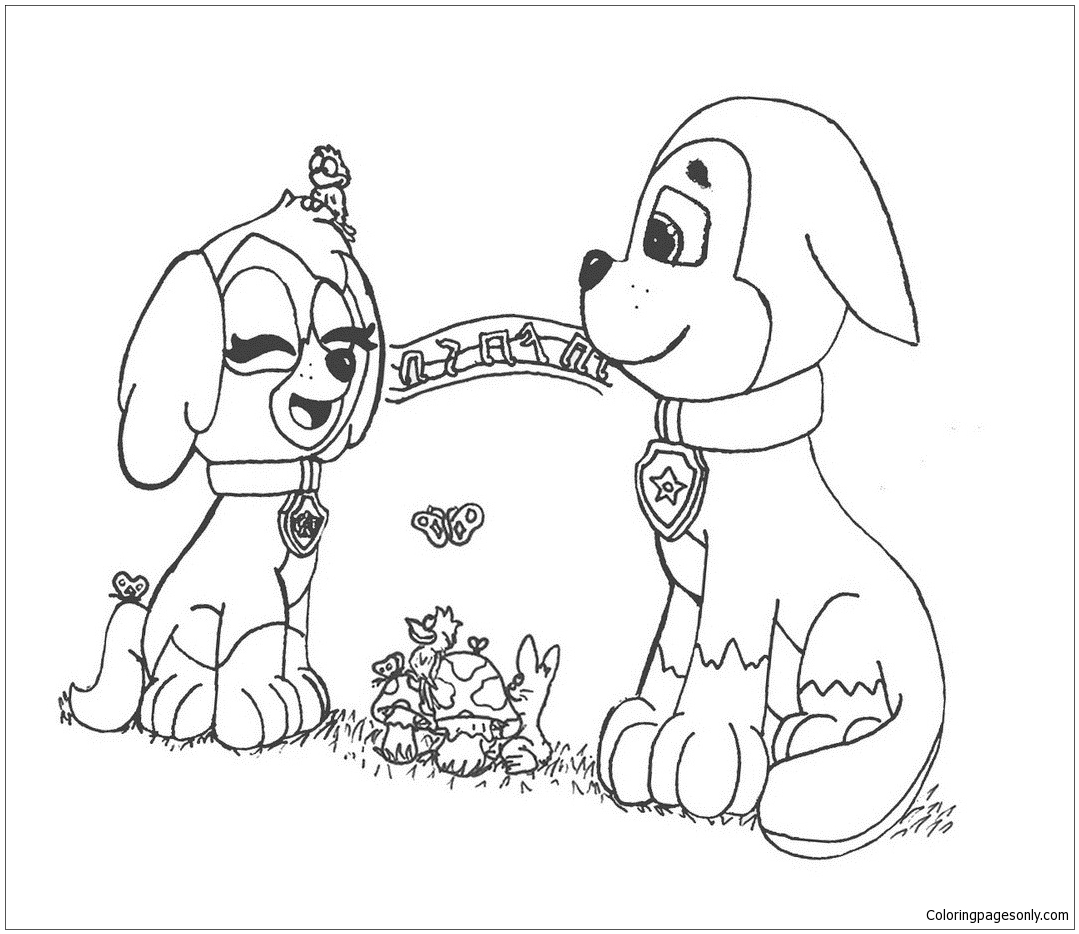 - Paw Patrol In Valentines Day Coloring Page - Free Coloring Pages