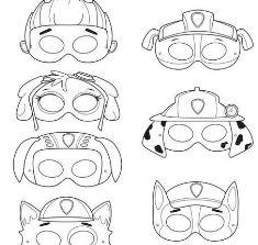 Paw Patrol Mask Coloring Page