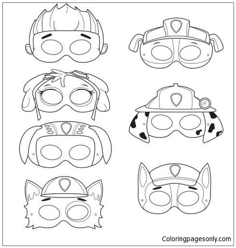 Paw Patrol Mask Coloring Pages - Cartoons Coloring Pages - Free Printable  Coloring Pages Online