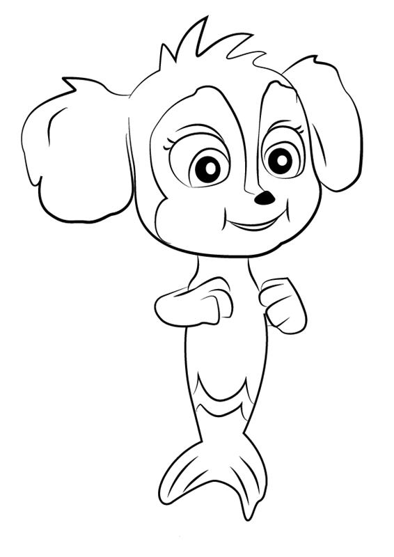 Paw Patrol Mer Pups Coloring Page