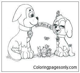 paw patrol number 2 coloring page free coloring pages online