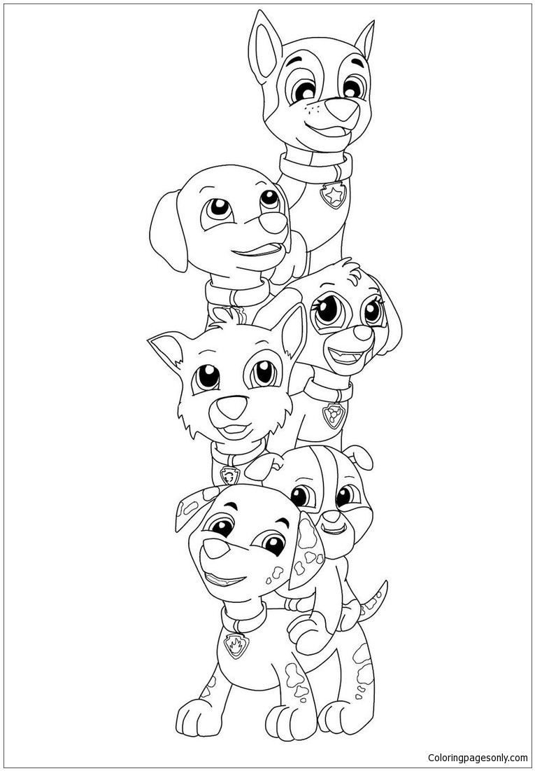 Paw Patrol Pup Everest Coloring Page Free Coloring Pages