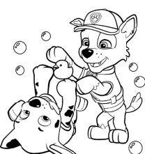 Paw Patrol Rocky And Marshall Coloring Page