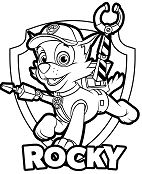 Paw Patrol Rocky Coloring Page