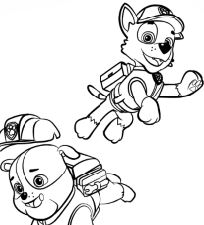 Paw Patrol Rubble And Rocky