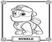Paw Patrol Rubble Printable Coloring Page