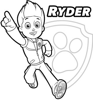 Paw Patrol Ryder 1 Coloring Page