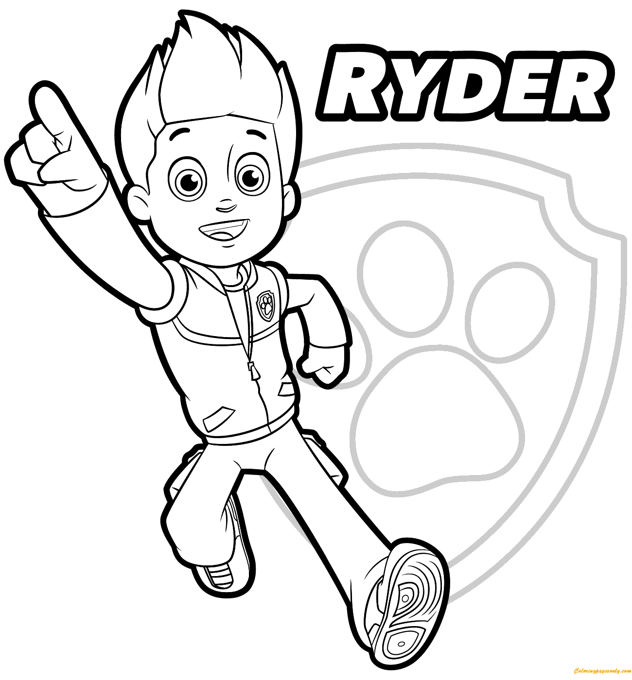 Paw Patrol Ryder 1 Coloring Page Free Coloring Pages Online