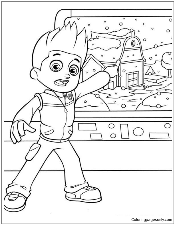 Paw Patrol Ryder 2 Coloring Page