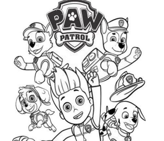 Paw Patrol Ryder And The Dogs Coloring Page