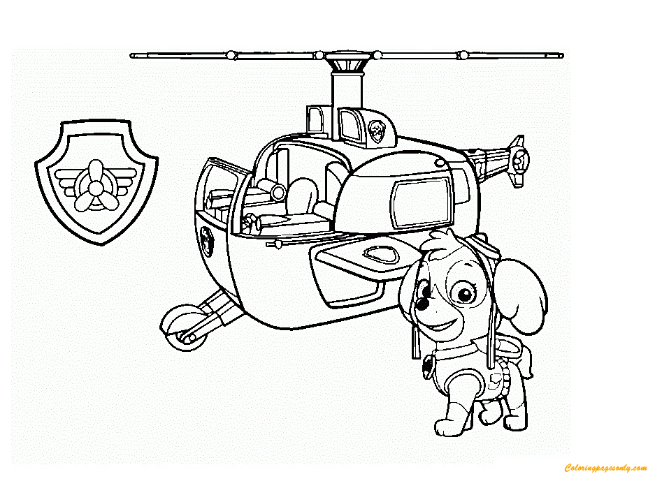 Paw Patrol Skye Want To Fly Coloring Page Free Coloring