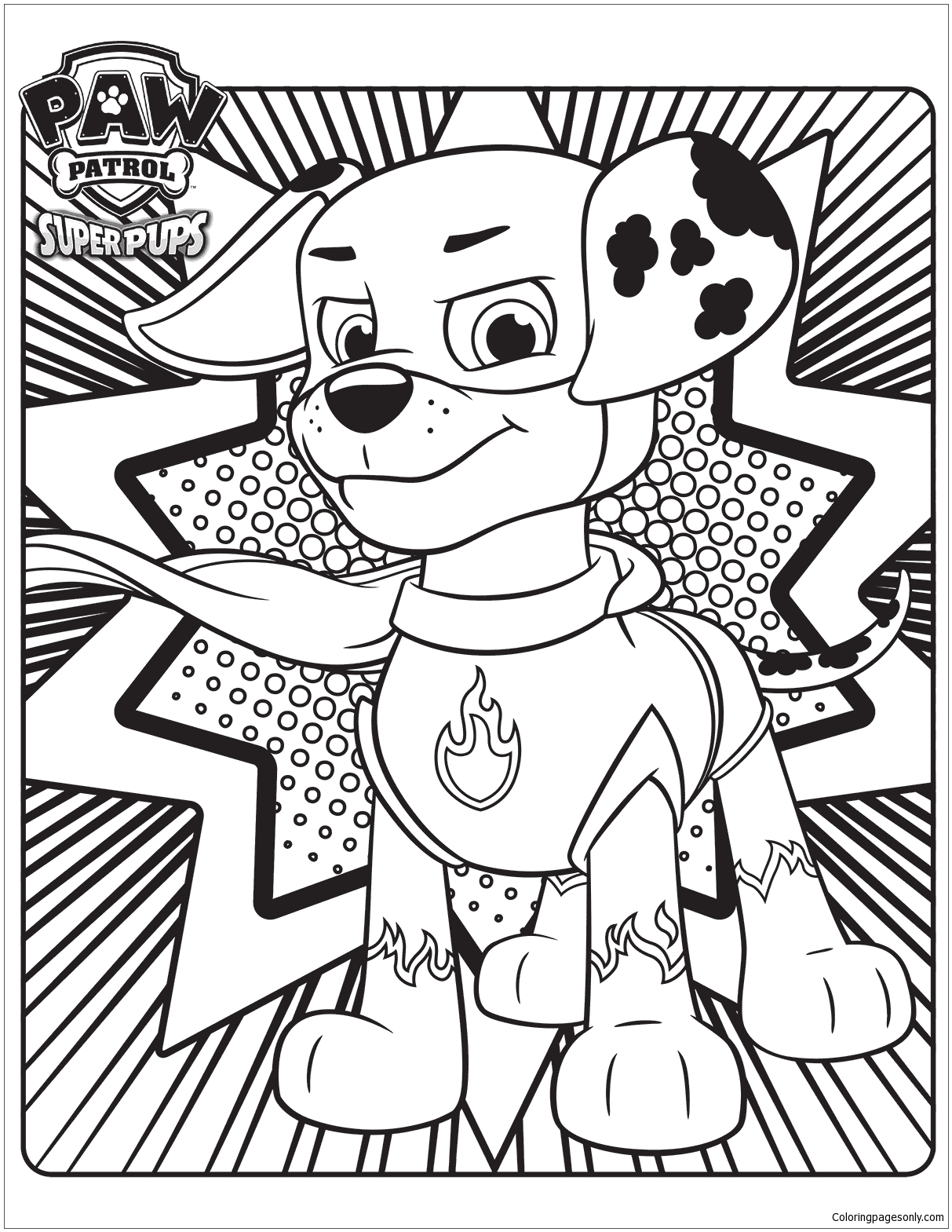 Paw Patrol Super Pups 3 Coloring Page - Free Coloring ...