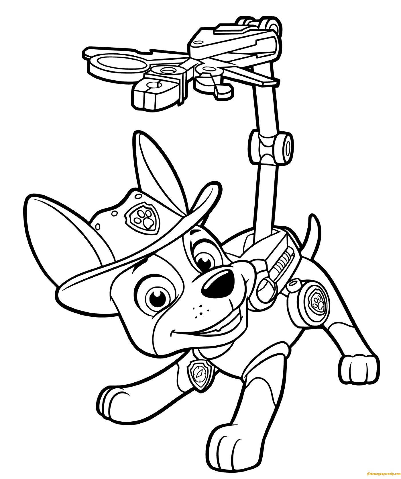 paw patrol tracker coloring pages  cartoons coloring