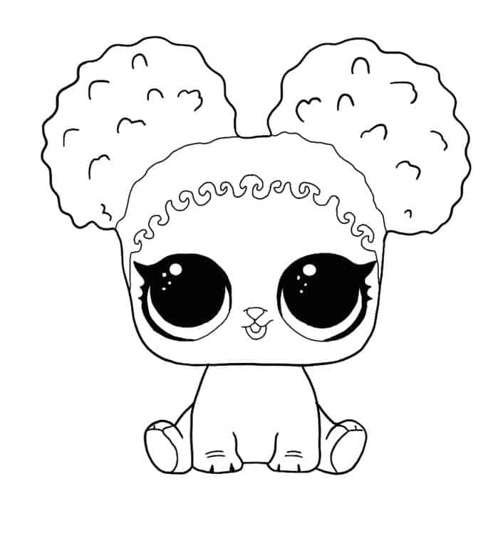 Lol Suprise Doll Pawfect 10 Coloring Page