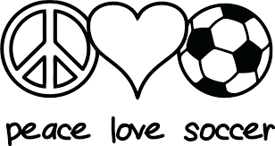 Peace Love Soccer Coloring Page