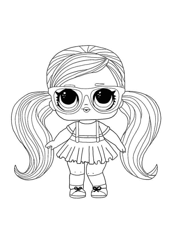 Lol Suprise Doll Peanut Buttah Coloring Page