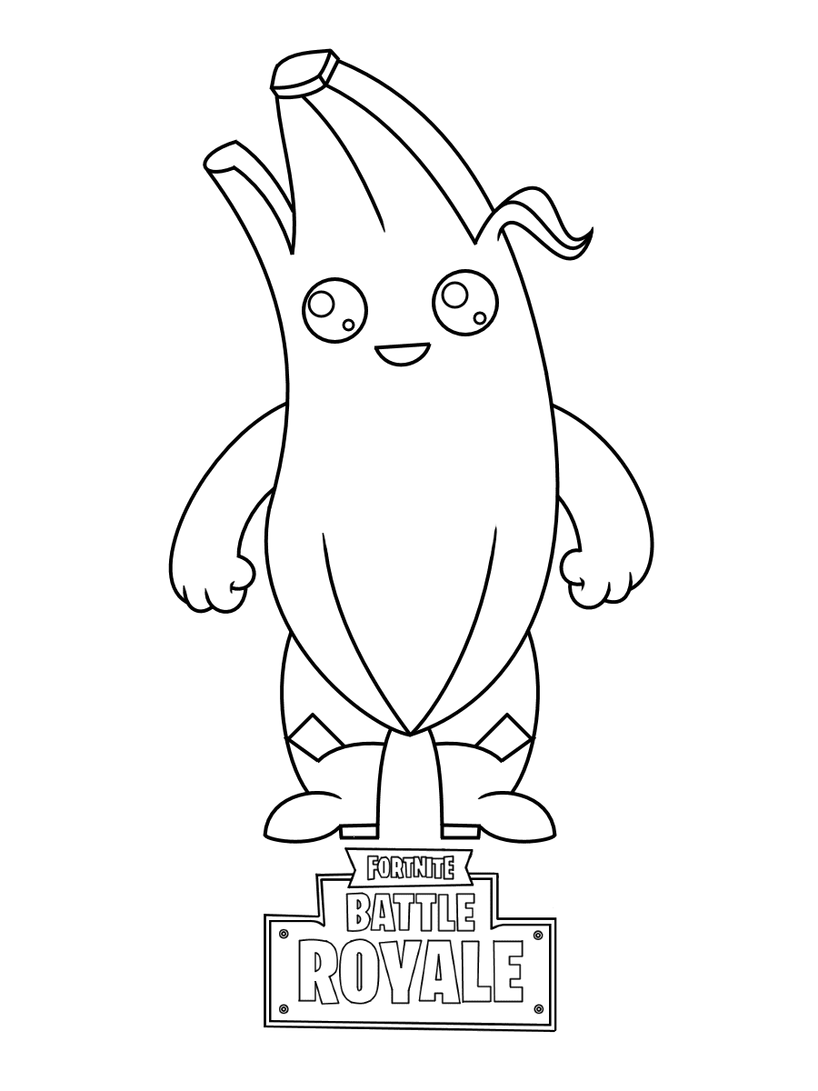Peely is a Epic Outfit in Fortnite Battle Royale Coloring Page