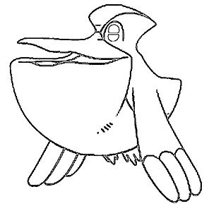 Pelipper Coloring Page