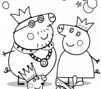 Peppa Family in the Middle Ages Coloring Page
