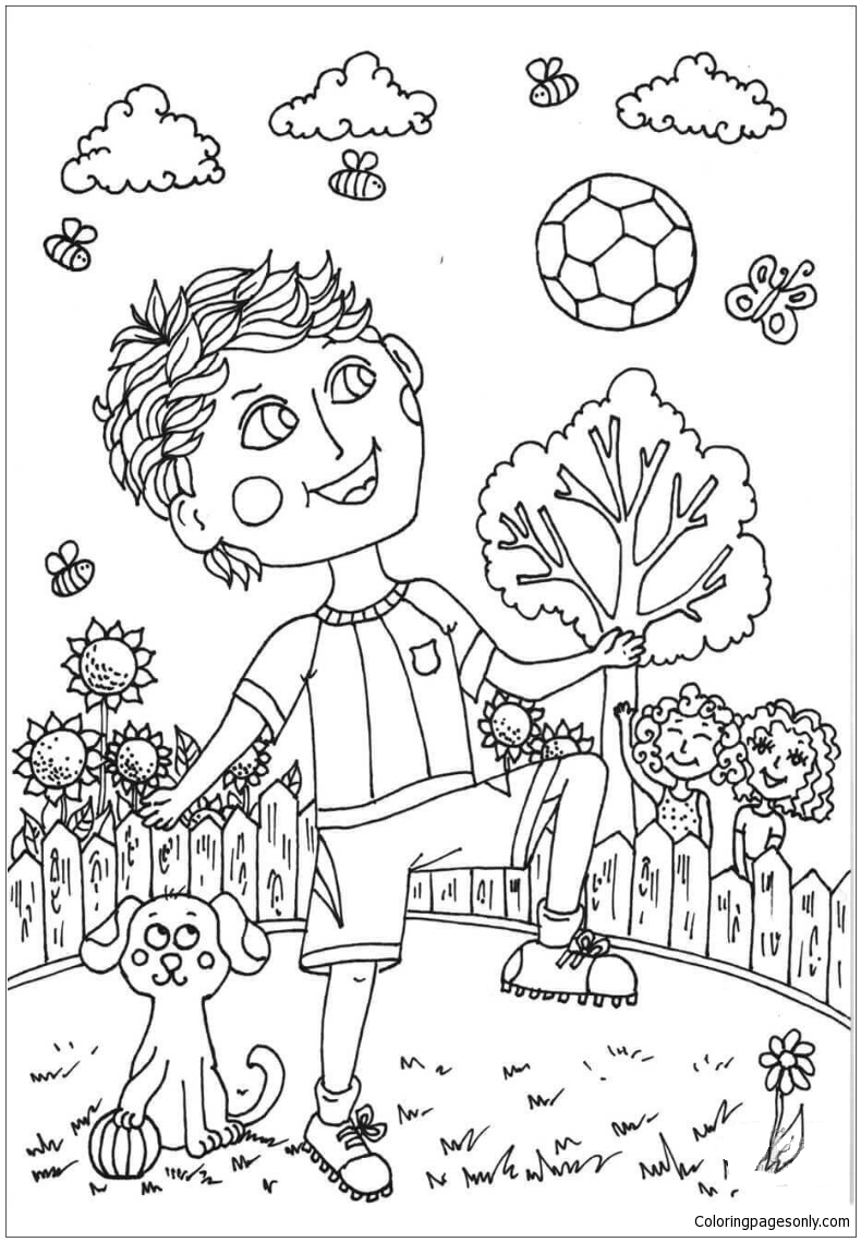 Peter Boy in June Coloring Page - Free Coloring Pages Online