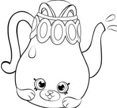 Petkins Tea Pot Shopkins