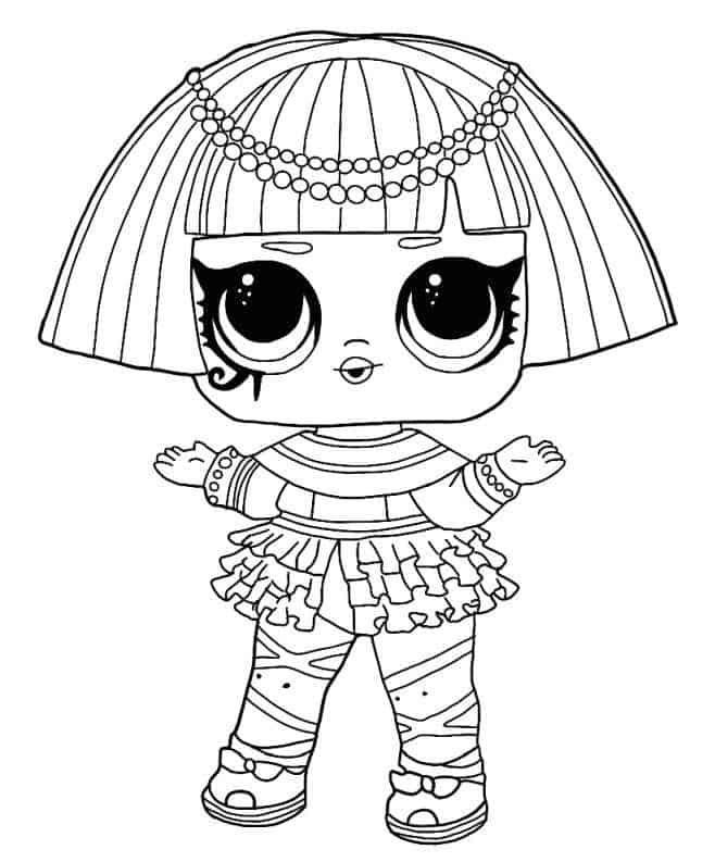 Lol Suprise Doll Pharaoh Babe Coloring Page