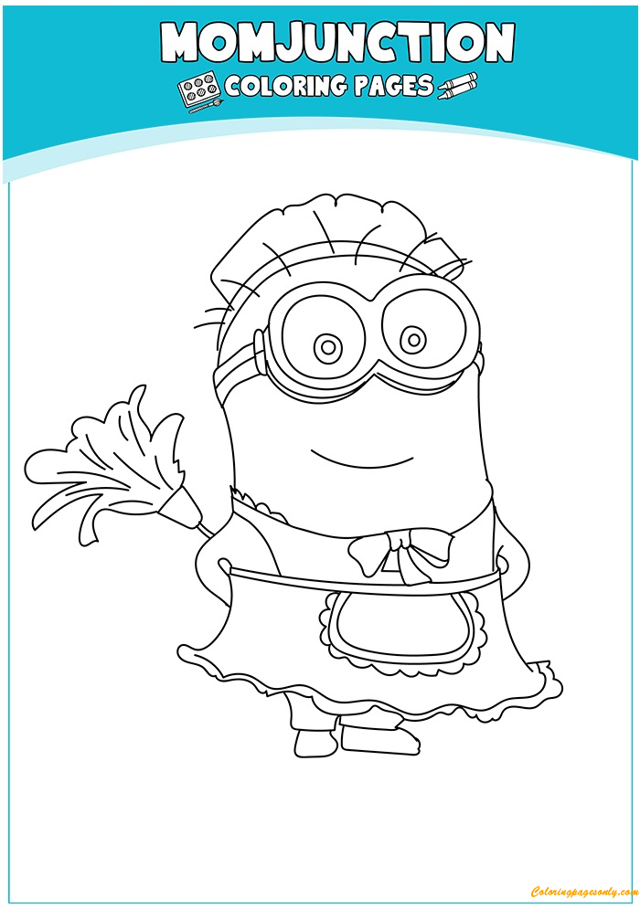 Phil Dressed As Maid Coloring Page