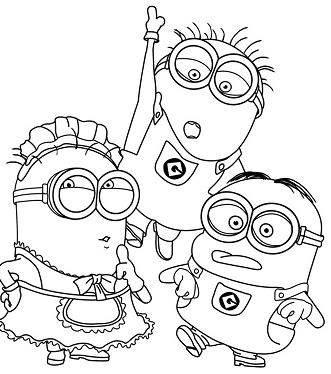 Phil, Mark and Tom Coloring Page