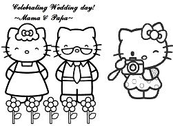 Photoshoot to Celebrate Wedding Hello Kitty s parents