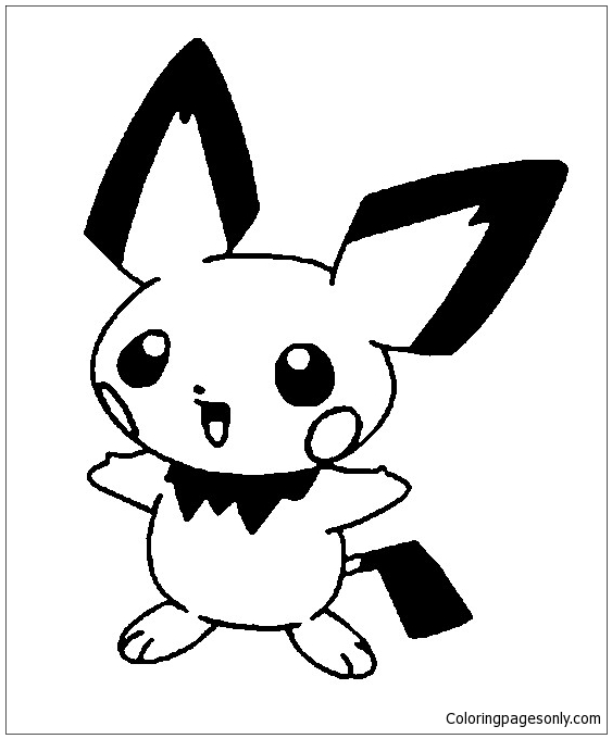 Pichu Pokemon Coloring Page - Free Coloring Pages Online