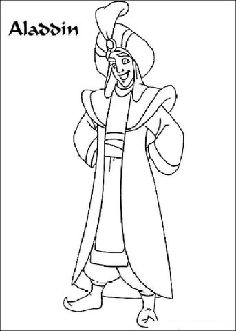 Picture Of Aladdin (Prince Ali) from Aladdin Coloring Page