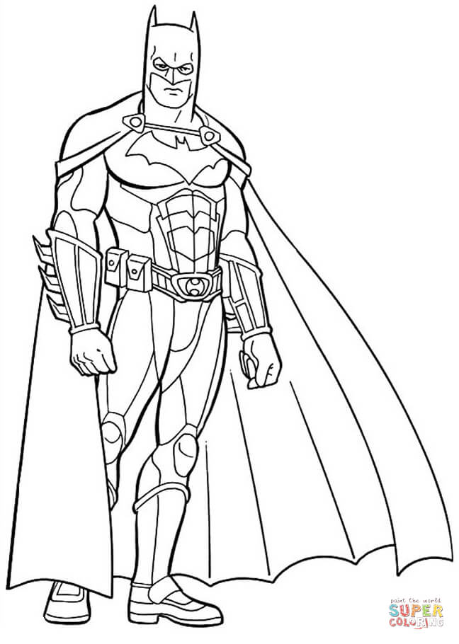 Batman The Dark Knight From Batman Coloring Pages Cartoons Coloring Pages Free Printable Coloring Pages Online